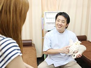 横浜市中区・磯子区 鍼灸接骨院・整体院やわらグループの骨格・骨盤の説明・状態確認